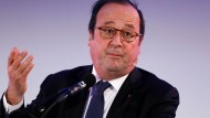 François Hollande bei einer Rede Anfang April in Rotterdam