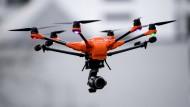 Freund und Helfer der Polizei: eine Drohne vom Typ Yuneec Typhoon
