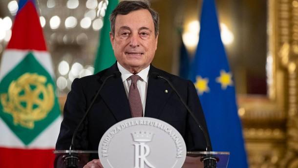 Draghi stellt Kabinettsliste vor