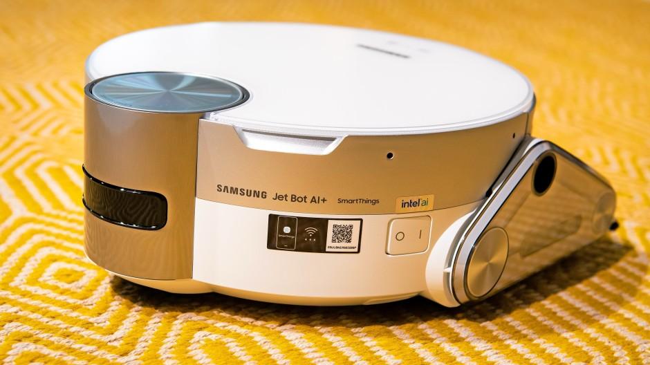 Haushaltsdroide: Der Jet Bot AI+ ist das Topmodell unter Samsungs Saugrobotern.