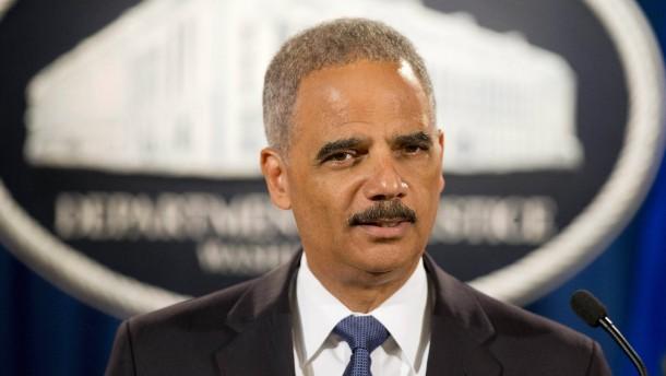 Justizminister Eric Holder kündigt Rückzug an