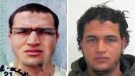 In Mailand erschossen: Der Terrorverdächtige Anis Amri auf Fahndungsbildern