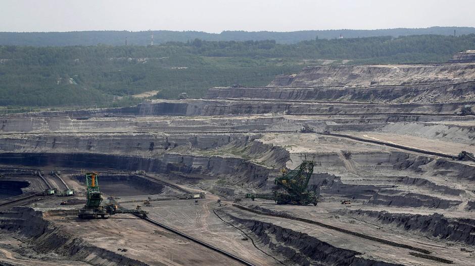Der Braunkohle-Tagebau im polnischen Turow im Juni 2021