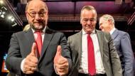 Daumen hoch: Die SPD kann auch dann Wahlen gewinnen, wenn Martin Schulz Parteivorsitzender ist – eine neue Erkenntnis für die Genossen
