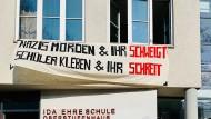 """Angebliche """"Antifa Area"""": Das Oberstufenhaus der Ida-Ehre-Schule in Hamburg"""