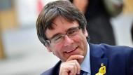 Puigdemonat am Mittwoch auf einer Pressekonferenz in Berlin