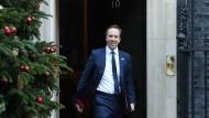 Der britische Gesundheitsminister Matt Hancock hat bereits Geld erhalten, um den negativen Auswirkungen eines ungeordneten Brexit entgegenzuwirken.