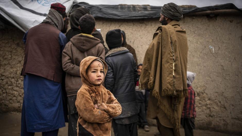 Bewohner im Flüchtlingslager Shahrak Police Camp Kabul am 11.03.2020.