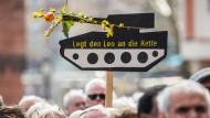Rund 3000 Menschen beim Ostermarsch in Frankfurt