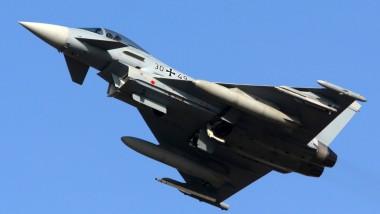 """Ein """"Eurofighter"""" des Jagdgeschwaders 73 """"Steinhoff"""" der Luftwaffe. Die Bundeswehr besitzt 109 Maschinen, doch nur 42 sind einsatzbereit."""