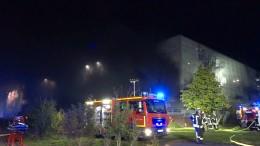 Großbrand am Flughafen Münster Osnabrück