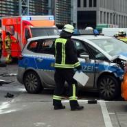In der Nähe des Alexanderplatzes: Einsatzkräfte Anfang 2018 am Unfallort