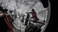"""Segeln am Limit: """"Scallywag""""-Crewmitglied Alex Gough ging auf der Etappe von Melbourne nach Hongkong sogar über Bord."""