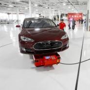 Beginn eines Wandels: So sah das erste kalifornische Tesla-Werk im Jahr 2012 aus.