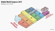 Hallenplan des Mobile World Congress