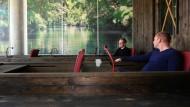 """In einem Boot: In Hamburg hat Google sein Büro unter dem Motto Wasser und """"Schietwetter"""" designt"""