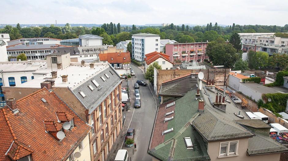 Durcheinander: In der Offenbacher Sandgasse ist keine städtebauliche Struktur zu erkennen.