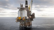 Offshore-Bohrinsel Brage vor der Küste Norwegens