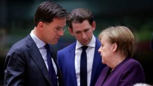 Niederlande: EU-Wiederaufbauplan nur mit Vetorecht