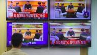 Ein südkoreanischer Beamter verfolgt die Berichterstattung über die mutmaßlichen jüngsten Nuklearversuche Nordkoreas.