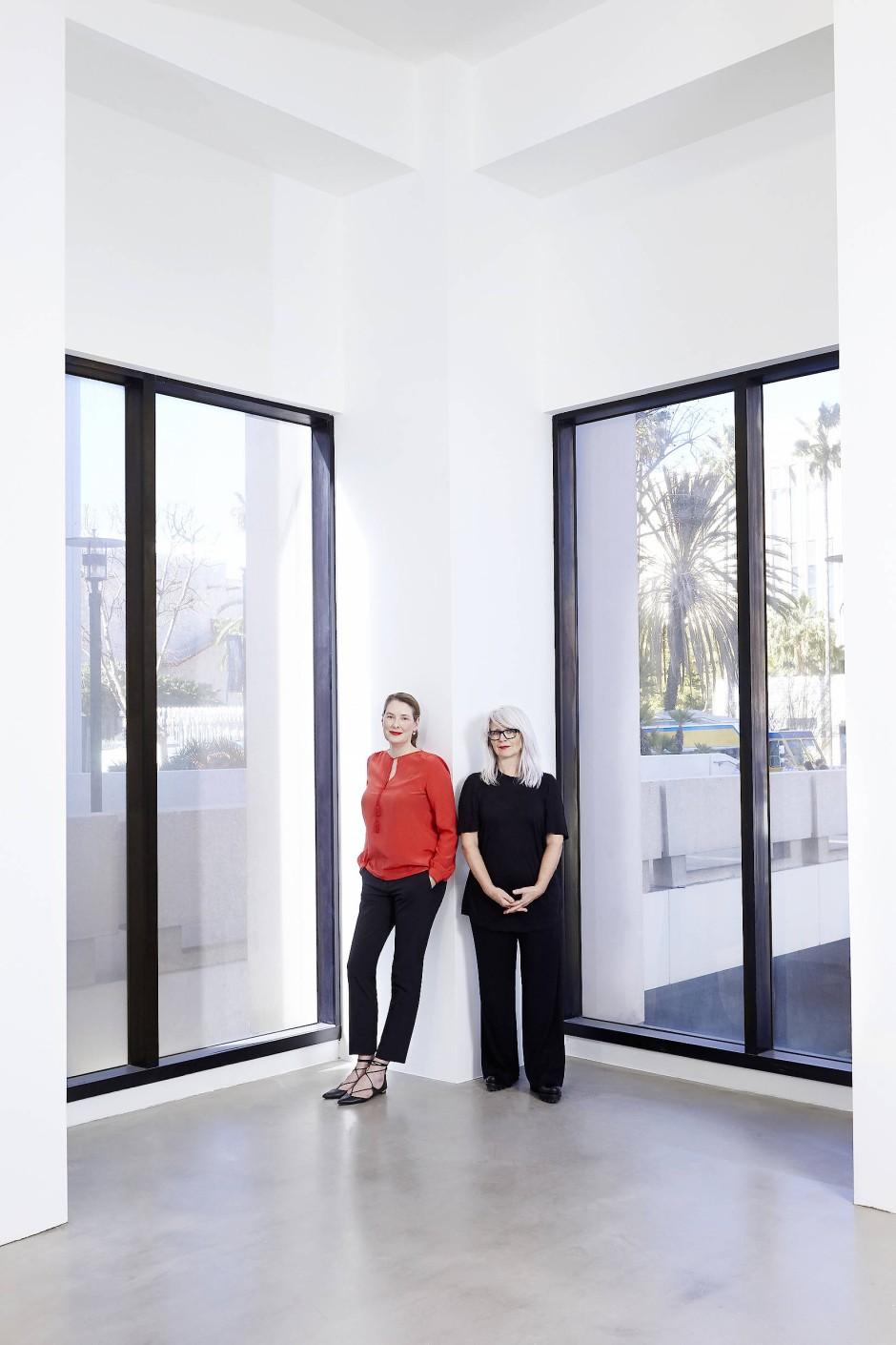 Räumliche Nähe zu den kalifornischen Sammlern: Philomene Magers (links) und Monika Sprüth