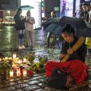 Gedenken an die Opfer in Finnland