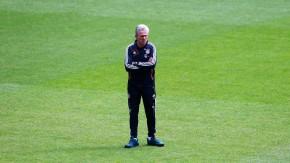 Bayern Munich's coach Heynckes watches team training session at international 'Open Media Day' in Munich
