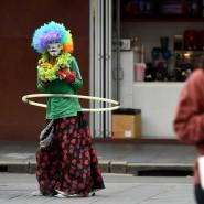 Ein Straßenkünstler in Sydney