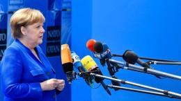 So kontert Merkel die Vorwürfe von Trump
