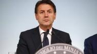 Italiens Regierungschef Giuseppe Conte ist stolz auf seinen Haushalt.