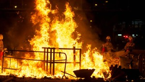 Wieder Chaos und Gewalt in Hongkong