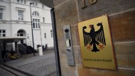 Der Eingang zum Bundeskartellamt in Bonn