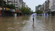 Dörfer und Städte überschwemmt