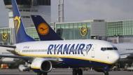 Premiere: Gestern landete die erste Ryanair-Maschine in Frankfurt - viele weitere sollen folgen und der Lufthansa Konkurrenz machen.