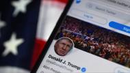 Dieser Account ist Geschichte: Seit dem Wochenende ist Donald Trump bei Twitter gesperrt.