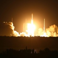"""China hat die Rakete """"Langer Marsch 7"""" ins All geschossen."""