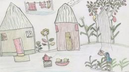 Ein sambisches Dorf malt seine Jugendträume