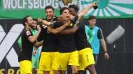 Borussia Dortmund präsentiert sich sehr stark beim Saisonauftakt in Wolfsburg.