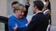 Wollen beide ein Ende des Syrien-Konflikts: Kanzlerin Merkel und Präsident Macron