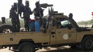 Soldaten der tschadischen Armee kehren Anfang Januar von einem Einsatz gegen Boko Haram in Nigeria zurück.