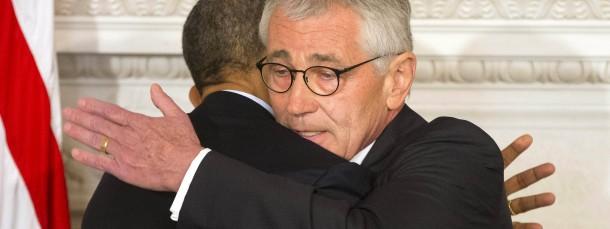 Obama und Hagel, am Montag auf der Pressekonferenz im Weißen Haus.