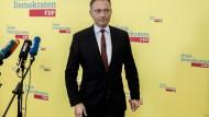 Unter Druck: FDP-Chef Christian Lindner