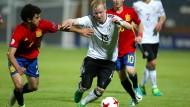 Dennis Jastryembski und die deutsche U17 scheitern im EM-Halbfinale an Spanien.