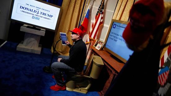 Trumps Tweets kommen ins Satire-Museum