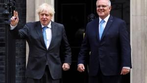 Johnson und Morrison einigen sich auf Freihandelsabkommen