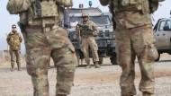 Amerikanische Soldaten nehmen Anfang Februar an einem Training für die afghanische Armee teil.