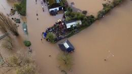 Heftige Überschwemmungen in Großbritannien