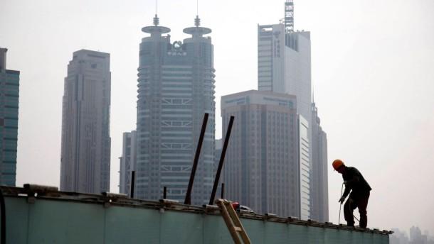 Wachstum in China auf niedrigsten Stand seit drei Jahren gefallen