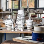 Platinstreifen: Prototypen für die F.A.Z.-Sonderedition in der Porzellanmanufaktur