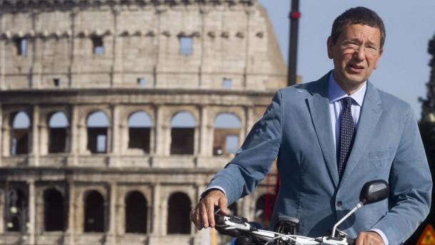 Das Fußgängerforum von Rom